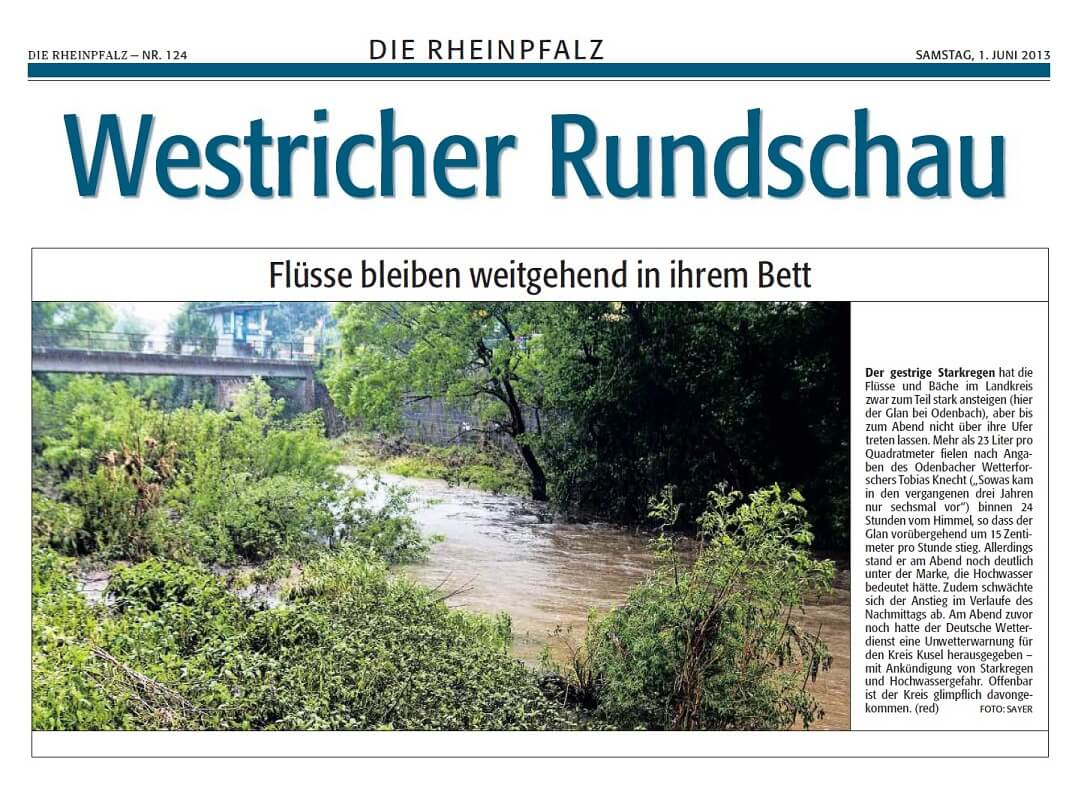 Rheinpfalz 01.06.2013