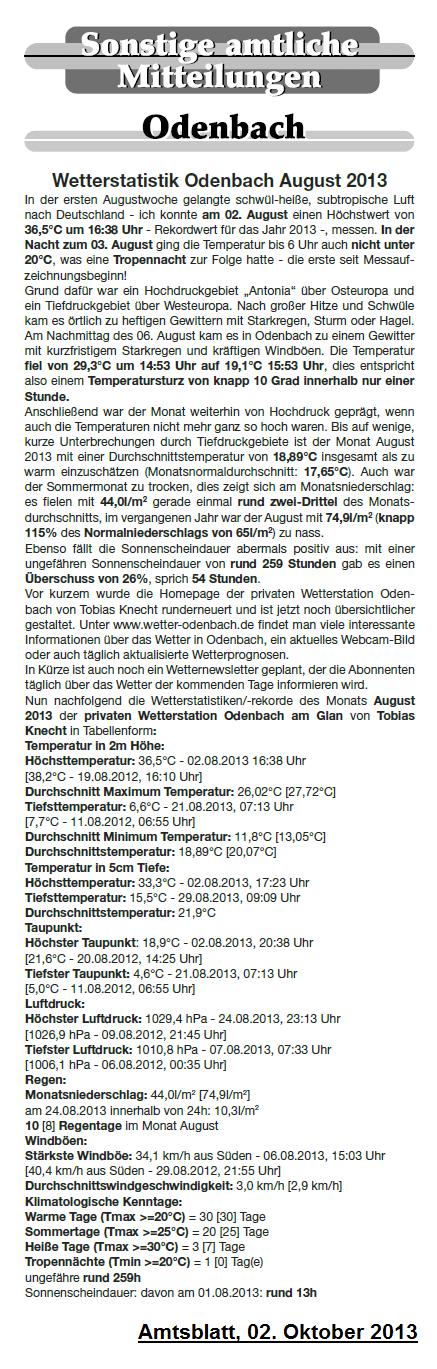 Rundschau 02.10.2013