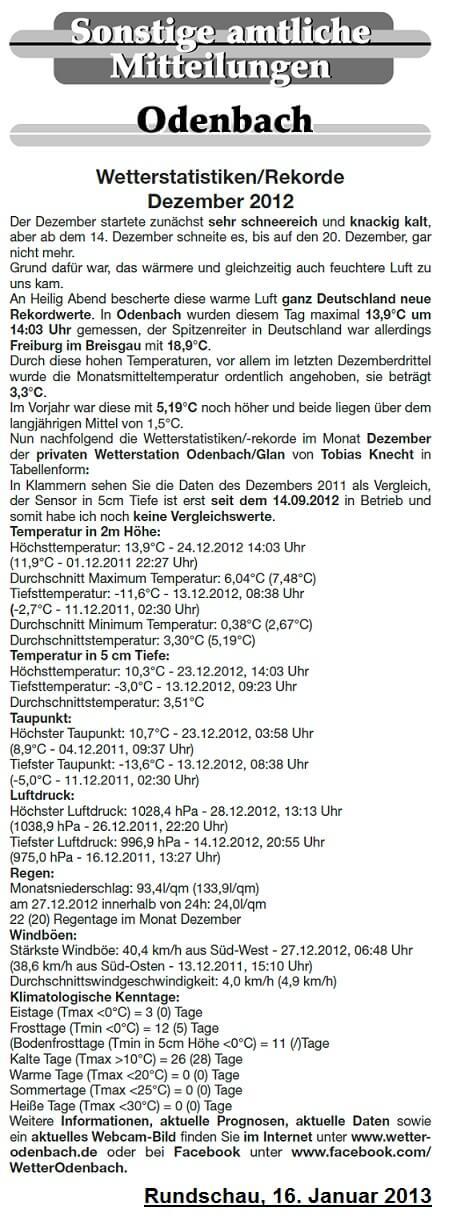 Rundschau 16.01.2013