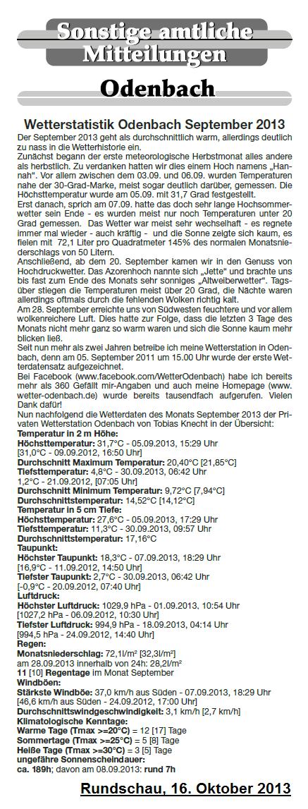 Rundschau 16.10.2013