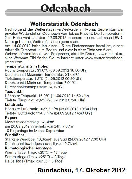 Rundschau 17.10.2012