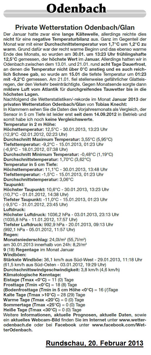 Rundschau 20.02.2013