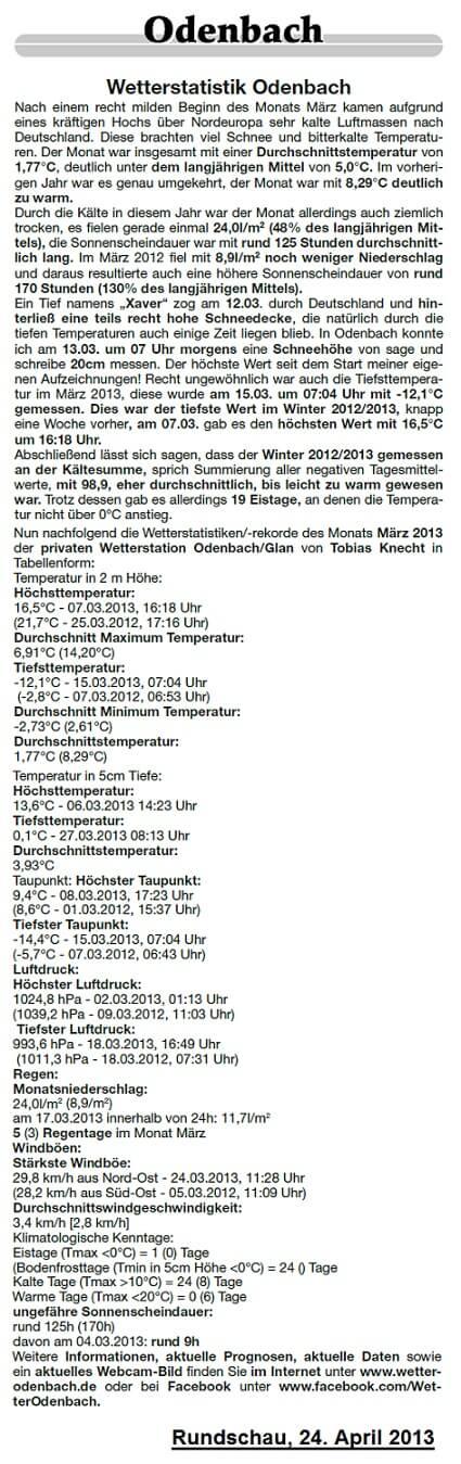 Rundschau 24.04.2013