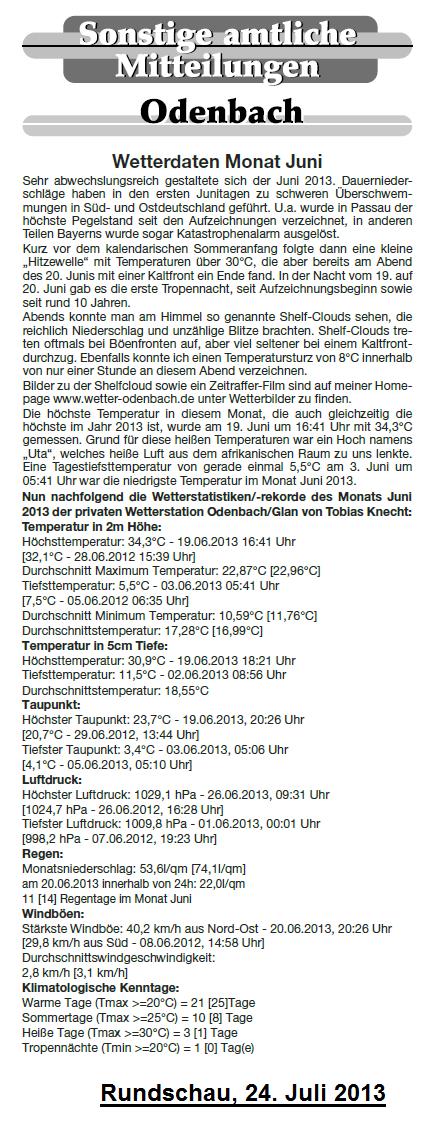 Rundschau 24.07.2013