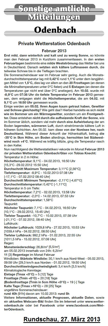 Rundschau 27.03.2013