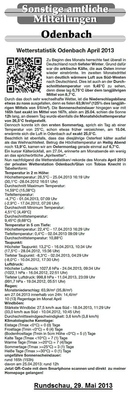 Rundschau 29.05.2013