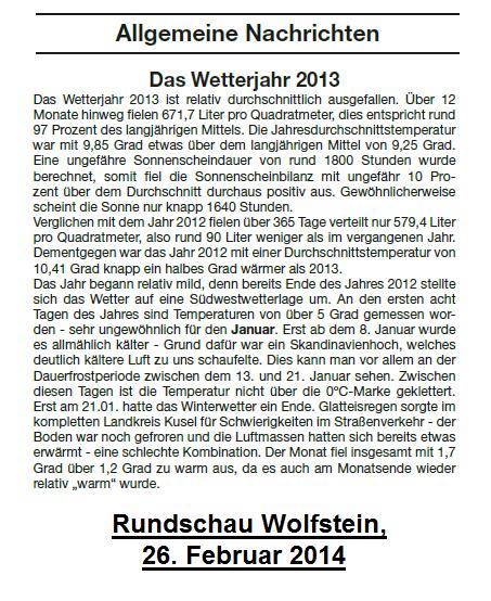 Rundschau Wolfstein 26.02.2014