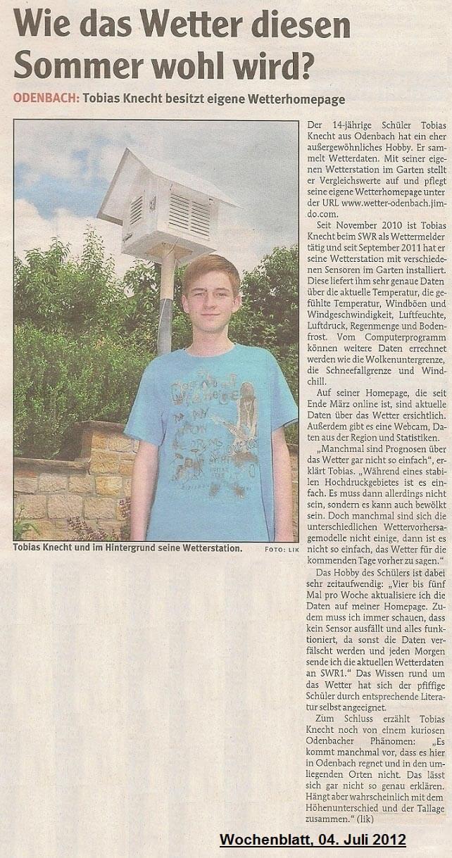 Wochenblatt 04.07.2012