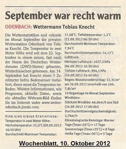 Wochenblatt 10.10.2012